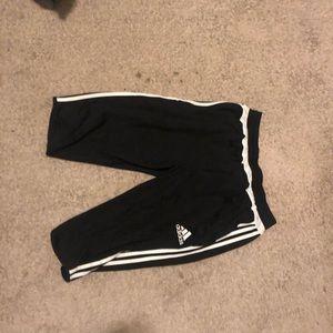 Adidas Soccer Shorts 3/4 Length Large